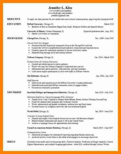resumes for grad school