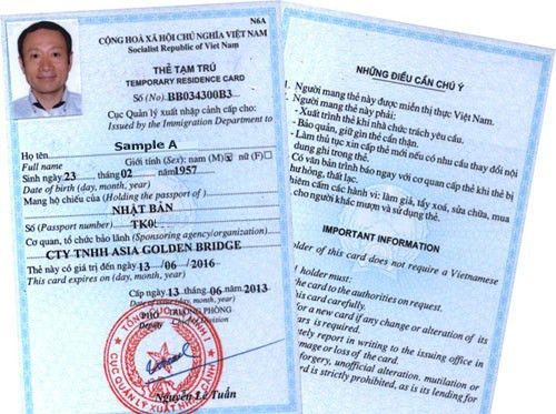 A guideline of getting Vietnam Temporary Residence Card for the ...
