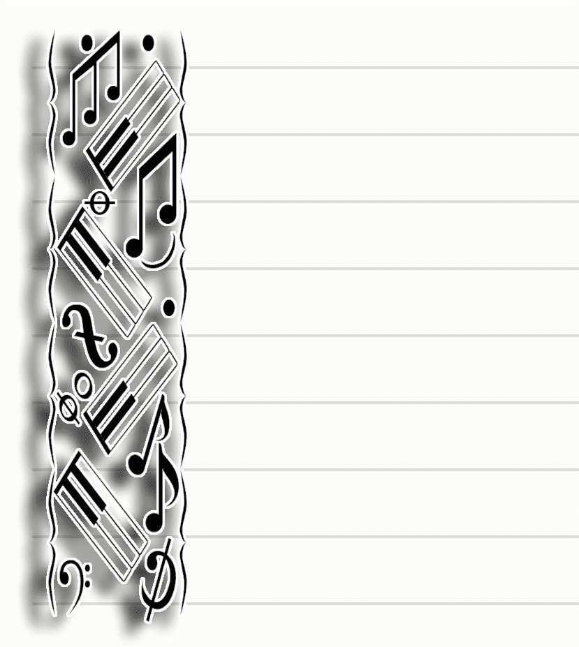 Free Printable Music Stationary (Stationery) | Pretty Paper ...
