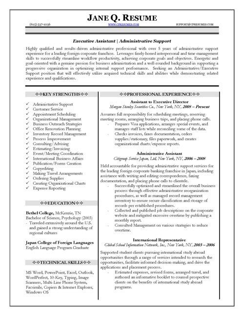 sample resume admin targeted at a administrative assistant job ...