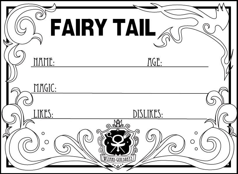Blank Fairy Tail Member Card by Corky-Lunn on DeviantArt