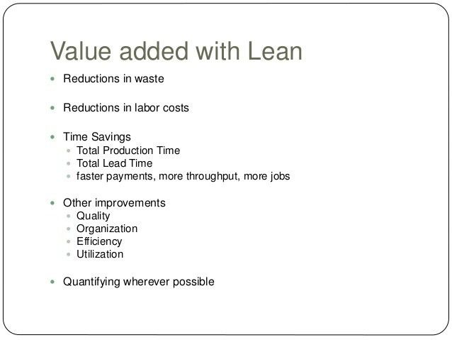 Lean Manufacturing Overview - MBA Consulting Class