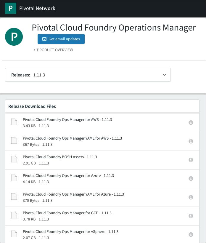 Deploying Operations Manager to vSphere | Pivotal Docs