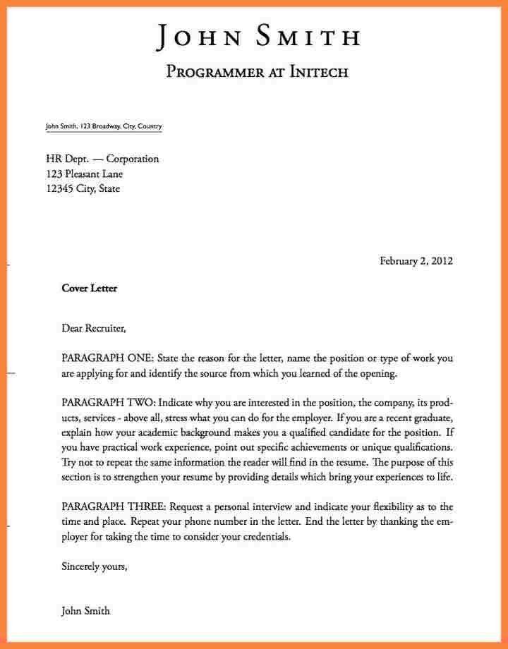 Cover Letter Format. Example Job Cover Letter Sample Of Job ...
