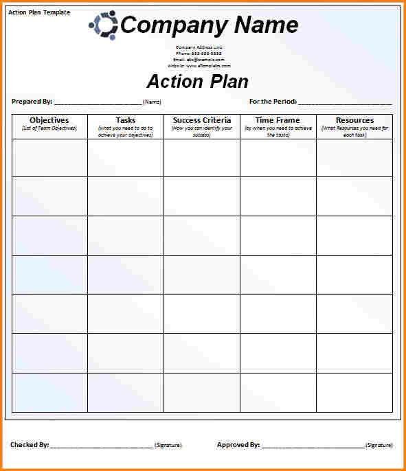 8+ action plan template   wedding spreadsheet