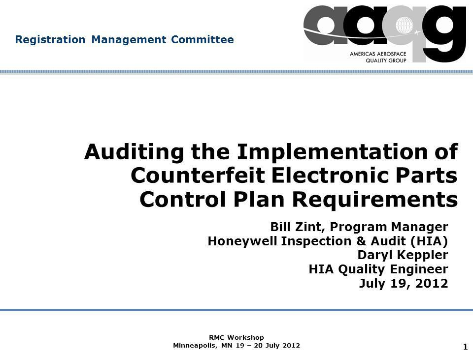 Company Confidential Registration Management Committee 1 Auditing ...