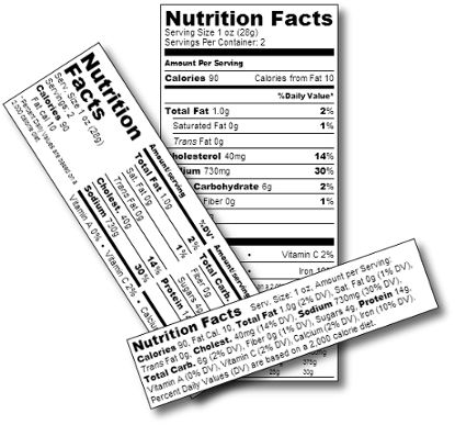 Create your own FDA approved nutrition fact labels with our ...
