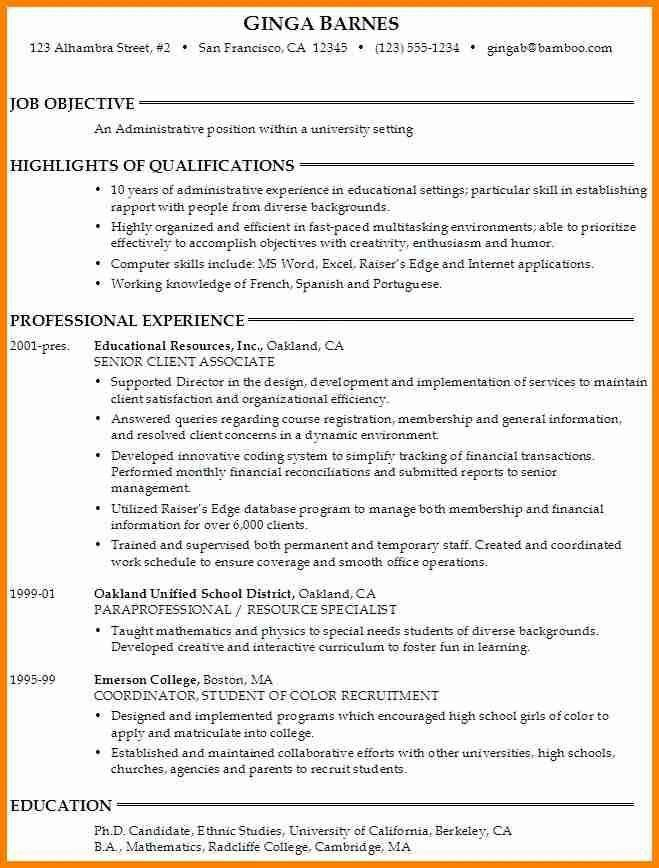 College Resume Objective Statement - Best Resume Collection