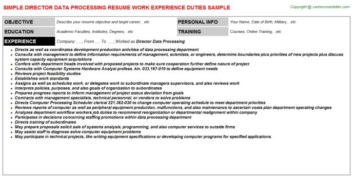 Ediscovery Data Processing Analyst Resumes Samples