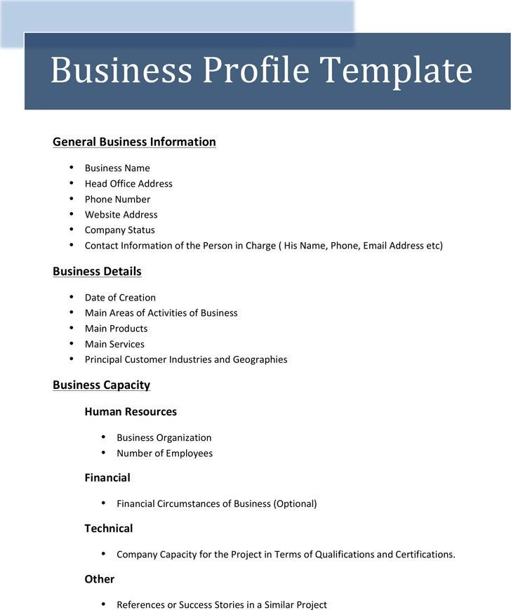Business Profile Template | Download Free & Premium Templates ...