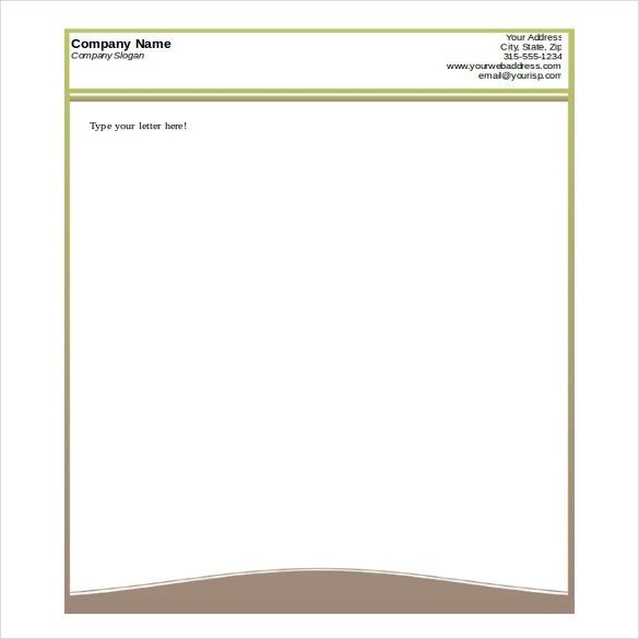 letterhead template in word - Template