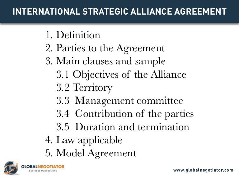 INTERNATIONAL STRATEGIC ALLIANCE AGREEMENT - Contract Template and Sa…