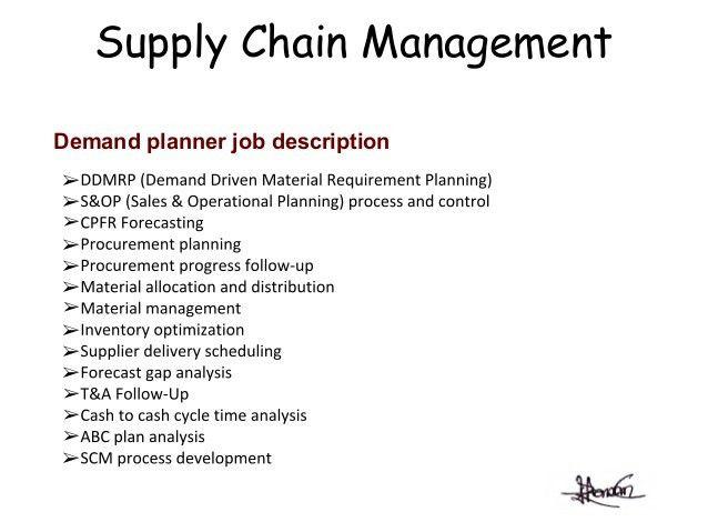 supply chain job description - Template