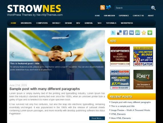 Free Premium WordPress Templates | Template Design