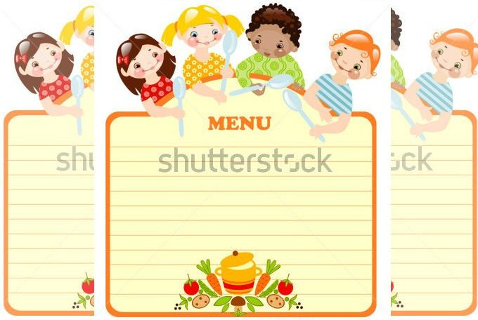 Menu Template For Kids. menu template 915 free word excel pdf psd ...