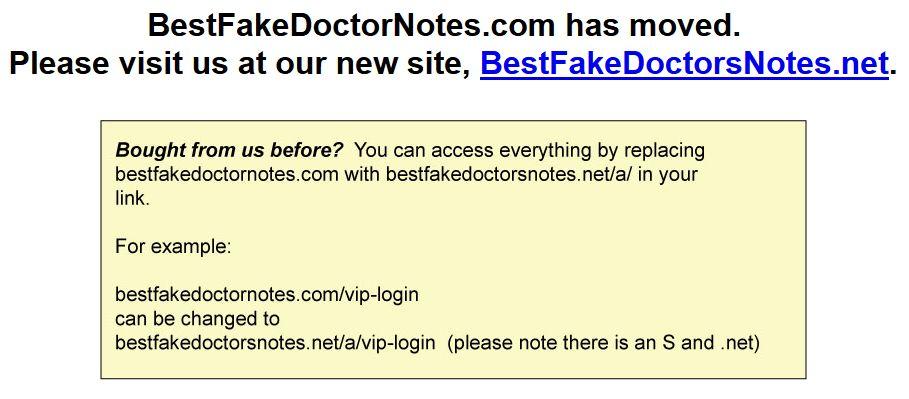 Online Fake Doctors Notes & Excuses - Work / School