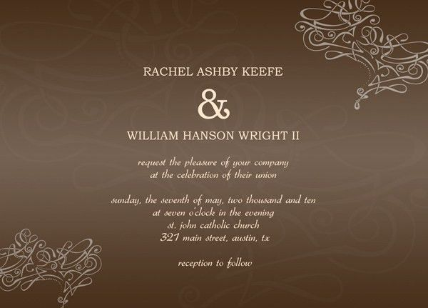 Sample Wedding Invitation Cards – Start Creating Your Special Cards
