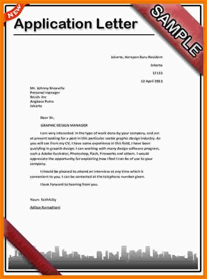 Sample Job Attachment Application Letter | Resume Cover Letter ...