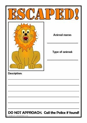 Lost Animal Poster Writing Frames & Printable Page Borders KS1 ...