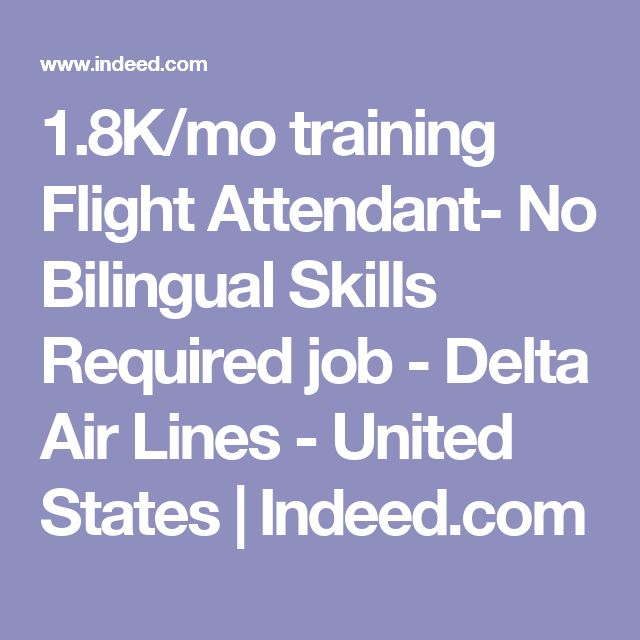1.8K/mo training Flight Attendant- No Bilingual Skills Required ...