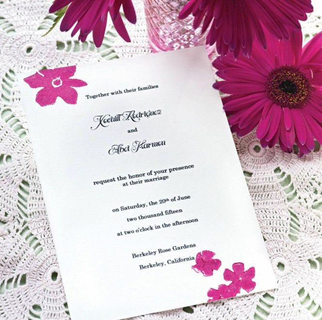 Invitation Card Format | PaperInvite