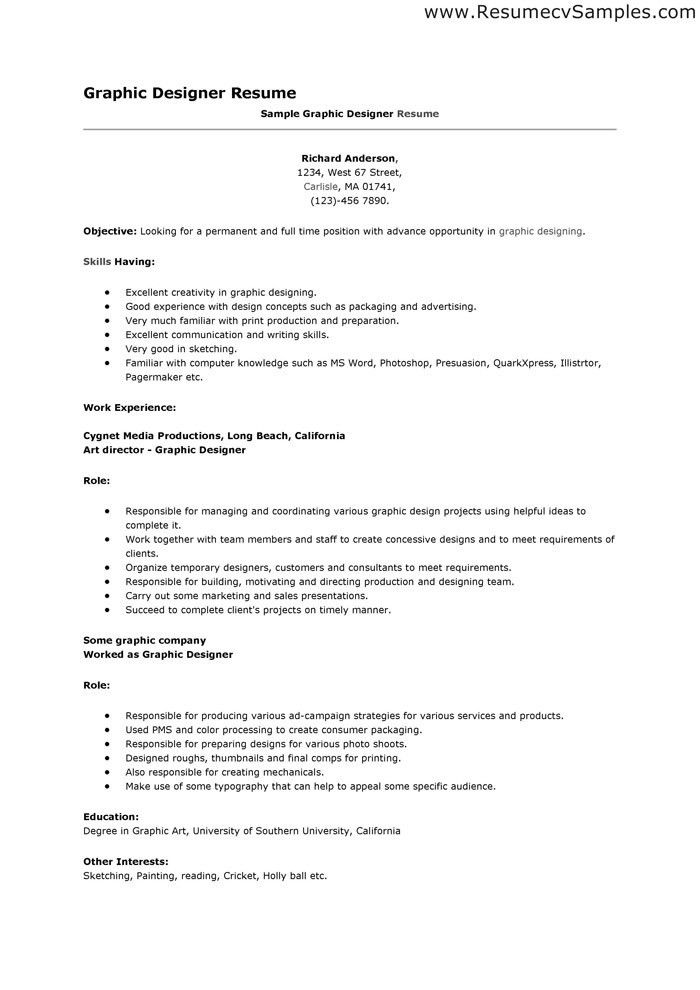 Some Example Of Resume. Basic Resumes Examples Free You Are On The ...