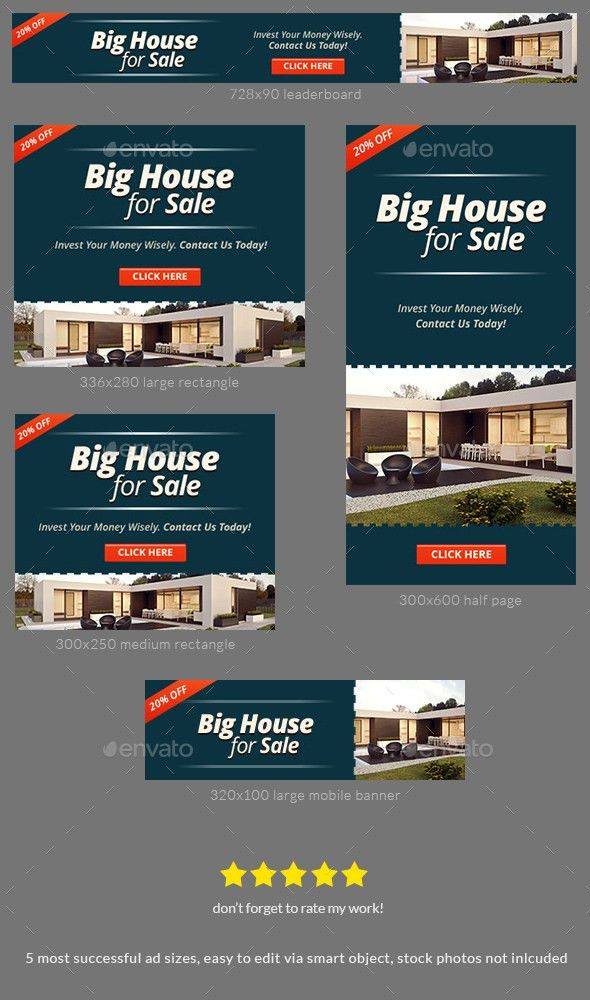 Property For Sale Banner Ad Template by admiral_adictus | GraphicRiver