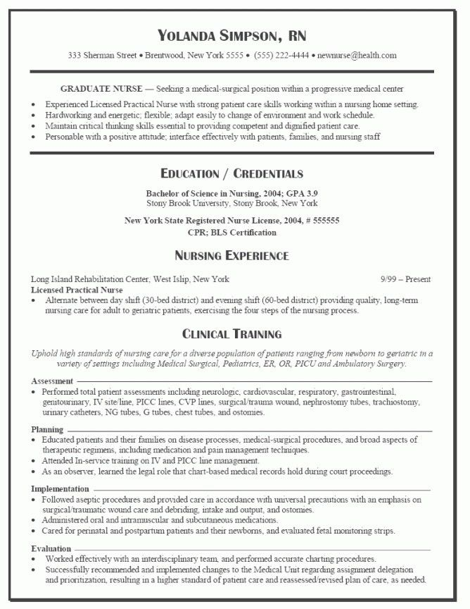 charge nurse resume samples. download licensed practical nurse ...