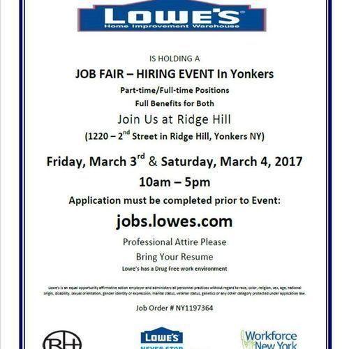 Lowe's Is Hiring in Yonkers