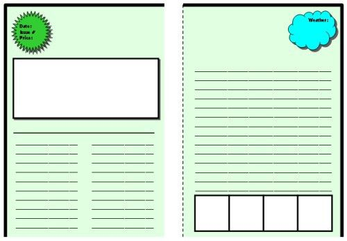 Biography Book Report Newspaper: templates, worksheets, and ...