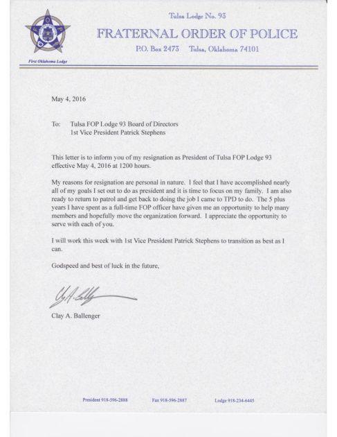 Tulsa police union president resigns | Crimewatch | tulsaworld.com