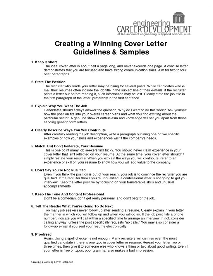 Pretty Ideas Cover Letter Guidelines 16 Sample Cover Letter Format ...