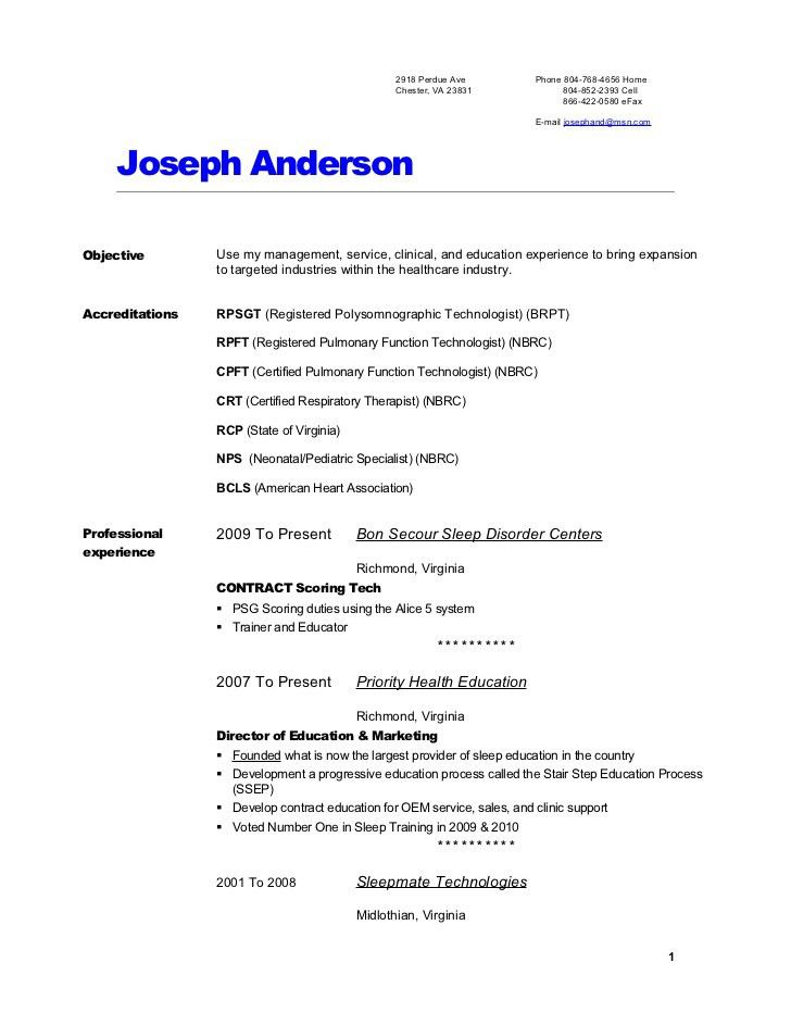 best entry level respiratory therapist resume resume template ...