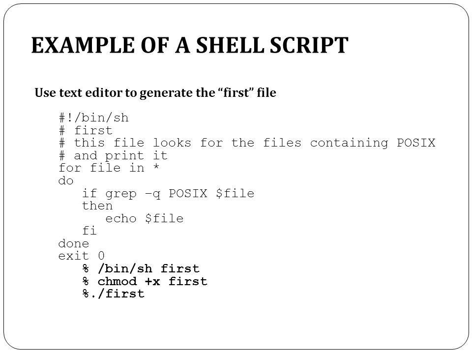 TOPIC 5.0 LINUX SHELLS. - ppt video online download