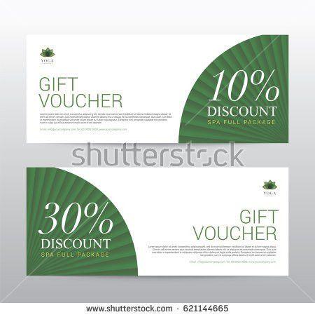 Gift Voucher Template Spa Flower Spring Stock Vector 572634250 ...