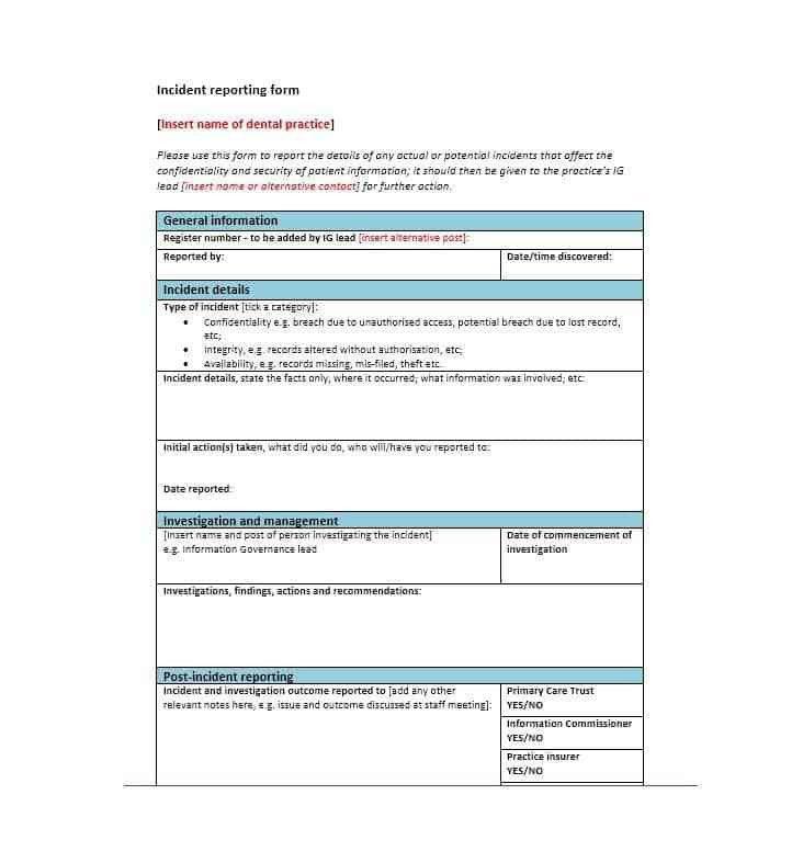 60+ Incident Report Template [Employee, Police, Generic ...