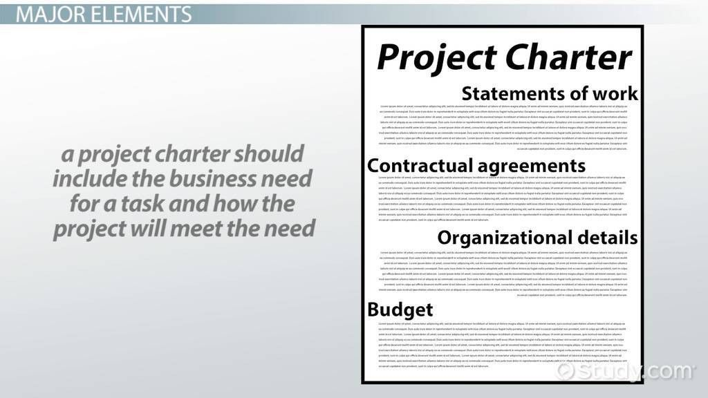 What is a Project Charter? - Elements & Example - Video & Lesson ...