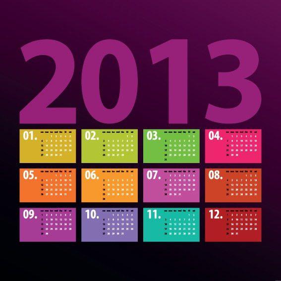 Creative 2013 Calendars design elements vector set 06 - Vector ...