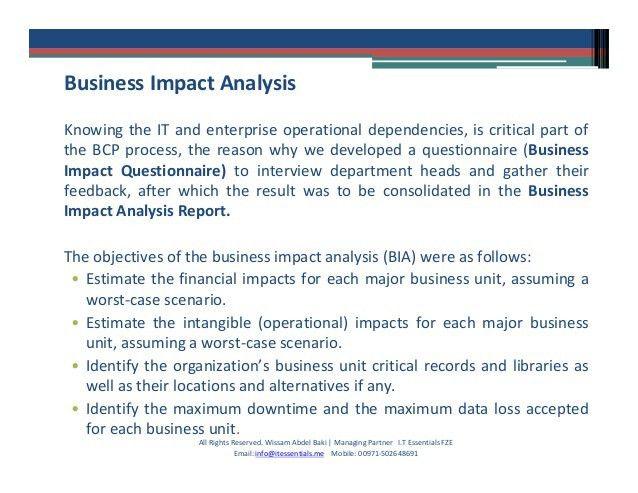 Business continuity management (case study)
