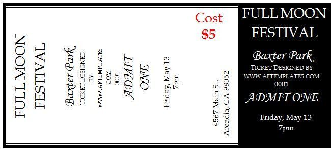 Show Ticket Template Thermal Ticket Printing Thundertix On Demand – Theatre Ticket Template