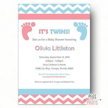 Twins Baby Shower Invitations | badbrya.com