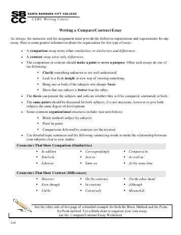 SAMPLE – compare contrast essay – (non) committer