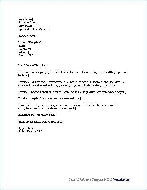 Top 25+ best Professional reference letter ideas on Pinterest ...