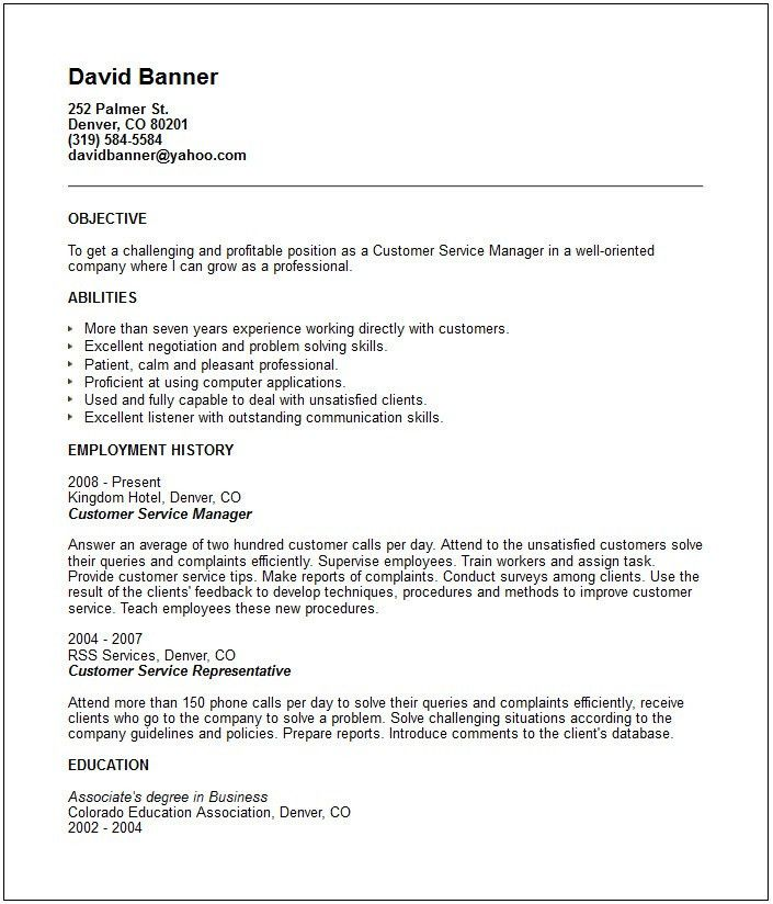 Customer Service Skills Examples For Resume - Resume Templates