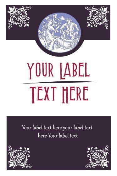 28+ Wine Label Template Free | Elegant Wine Label Vector Free ...