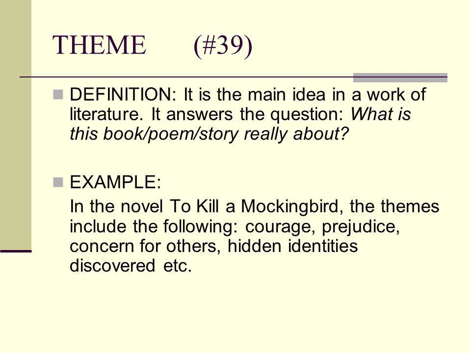 theme definition - Sayfa 4 / 13 - Stated Theme Definition Of a In ...