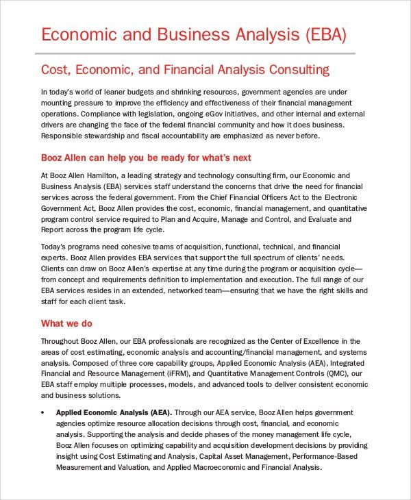 Sample Business Analysis - 8+ Examples in PDF, Word