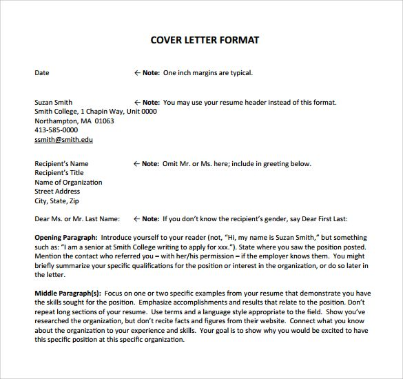 Job Application Cover Letter - 8 + Samples , Examples & Formats
