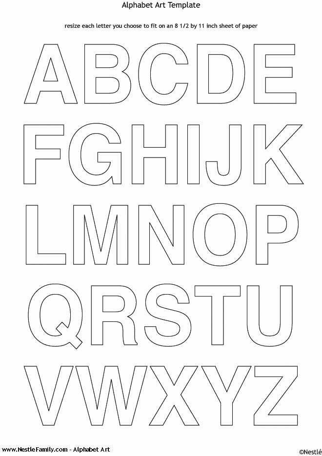 Alphabet Letters To Cut Out | Alphabet Art | Nestlé Family ...