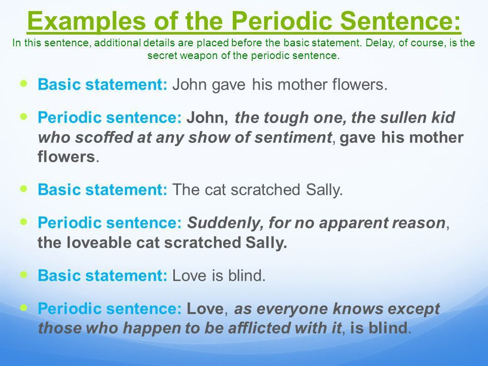 Periodic sentence example periodic sentences othmars trombone a syntax page 72 a study in an ap rhetorical category ppt video ccuart Image collections